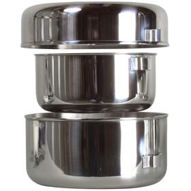 Basic Nature Biwak 1 Cook Set Stainless Steel